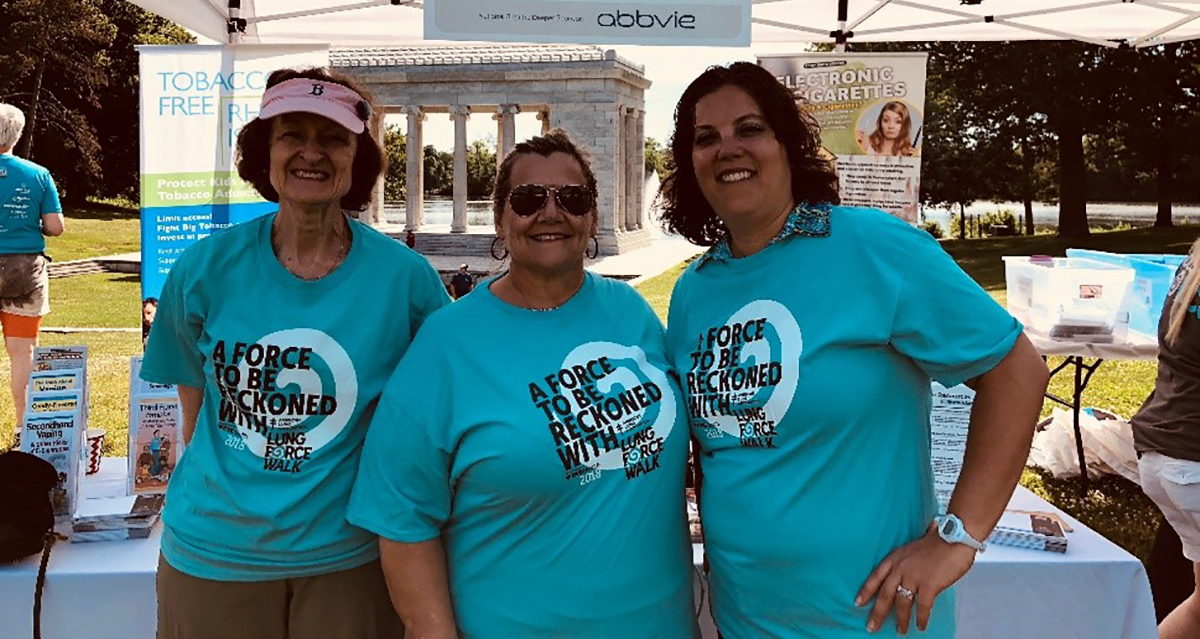 LUNG FORCE Walk participants