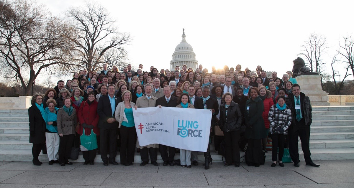 2018 LUNG FORCE Advocacy Day group photo
