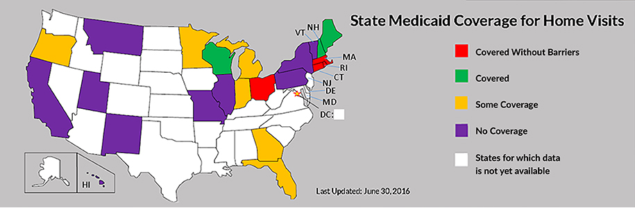 state medicaid asthma coverage map