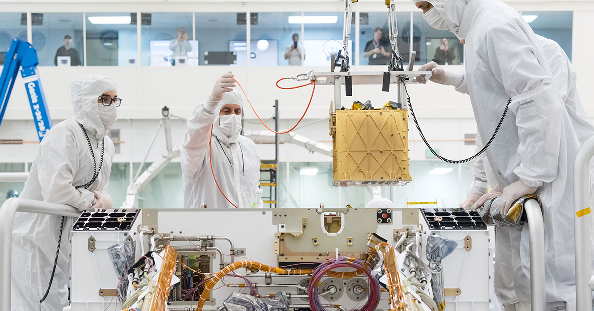Mars Oxygen ISRU Experiment (MOXIE) is an exploration technology investigation that will produce oxygen from Martian atmospheric carbon dioxide. Photo credit: NASA