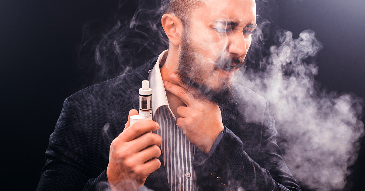 Man using a vape pen