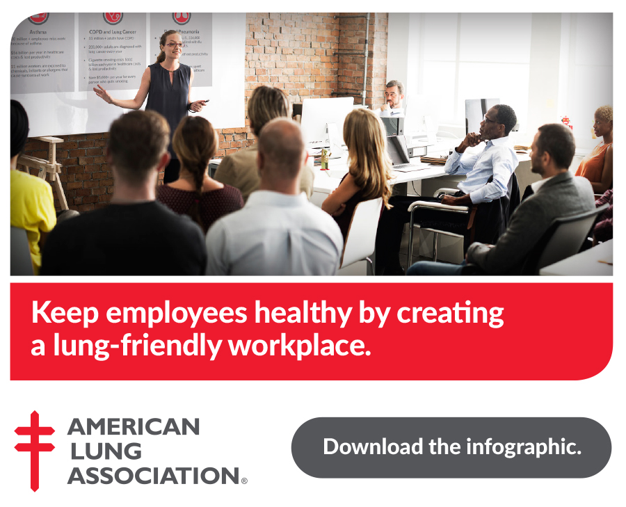 Lung Friendly Workplace Infographic