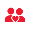 two people and a heart icon